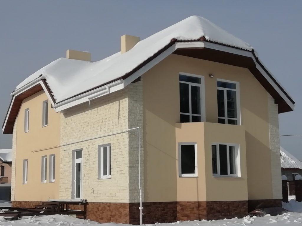 Наши работы поселок Солнечный мокрый фасад фото