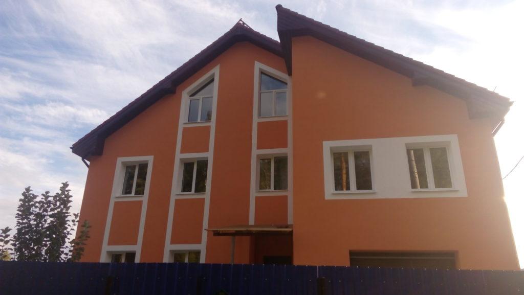 Наши работы поселок Шувакиш мокрый фасад фото
