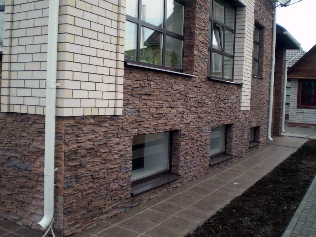Наша работа наружное оформление цокольных стен термпопанелями фото Мокрый фасад Екатеринбург